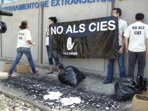 Protesta simbòlica contra la Directiva de Retorn, 2008